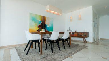 sala de jantar apartamento São Conrado